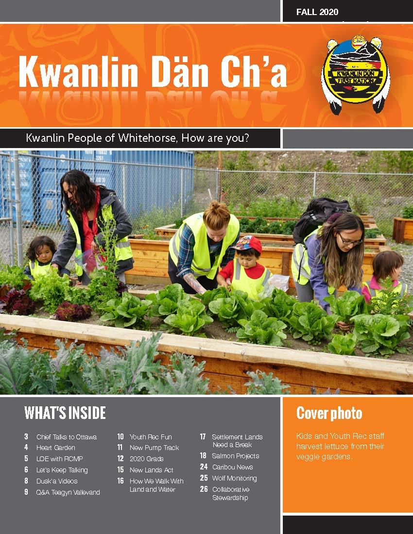 Fall 2020 - Kwanlin Dän Ch'a Newsletter